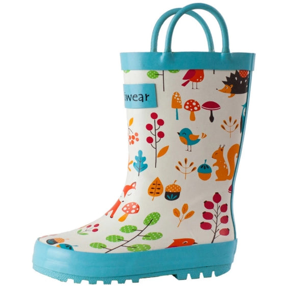 Loop Handle Rainboots | Forest Animals
