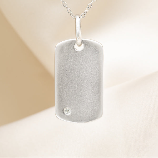 Annie Dog Tag Locket Necklace