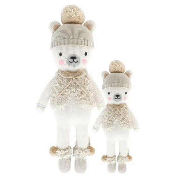 cuddle + kind Hand Knit Little Dolls | Stella the Polar Bear