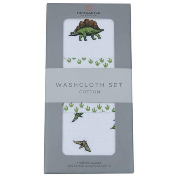 Newcastle Cotton Washcloth Set | Dino Days