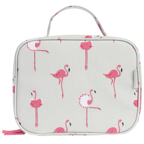 Sophie Allport Oilcloth Waterproof Stain Resistant Insulated Kids Lunch Bag | Flamingos