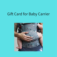 Gift Card for Baby Carrier