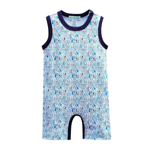 Feather Baby Cotton Tank Summer Romper | Fish