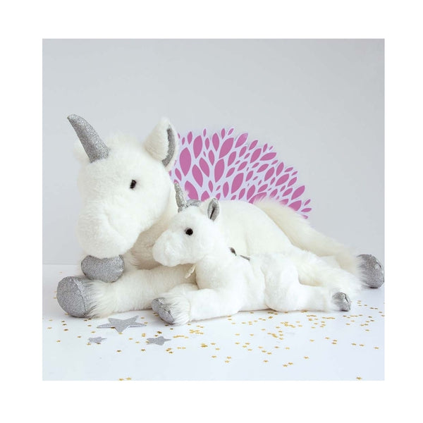 Parisian Plush Unicorn Stuffed Animal | Silver Glitter