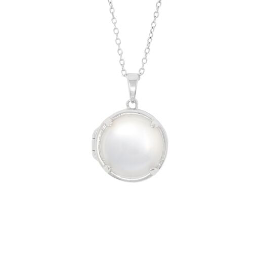 Lucy Glass Locket Necklace