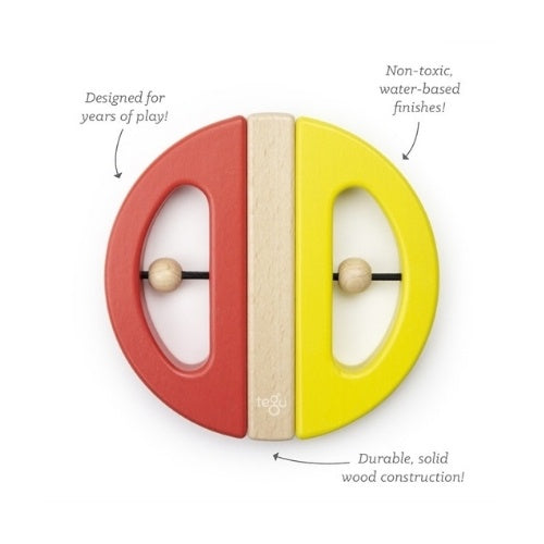 Twist and Pull Magnetic Wooden Swivel Bug | Poppy + Yellow