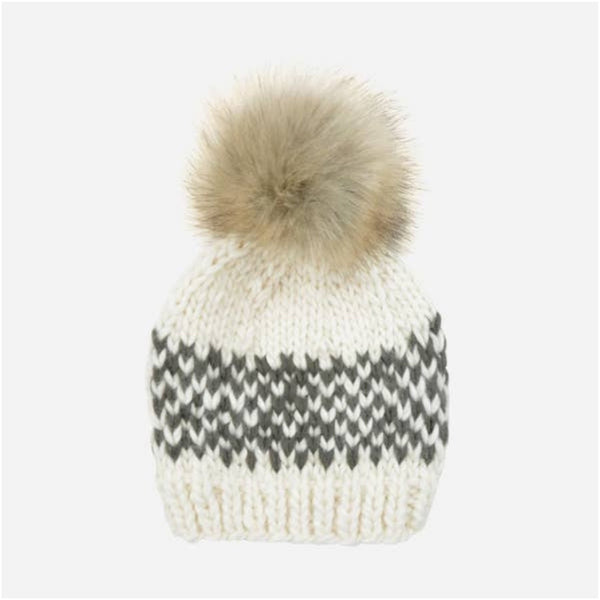 Hand Knit Winter Hat | Fair Isle Stripe