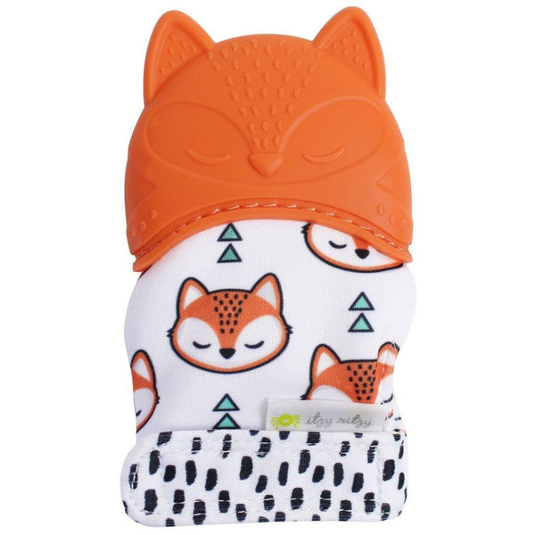 Baby Teething Mitt with Crinkle  Paper | Fox