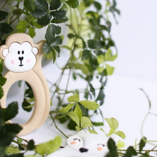 Little Cheeks Silicone Teether | Monkey
