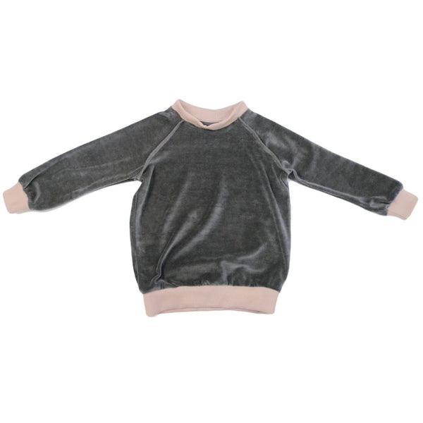 Baby and Toddler Velour Sweatshirt | Gray