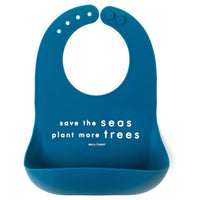 Bella Tunno Silicone Pocket Bib | Save the Seas