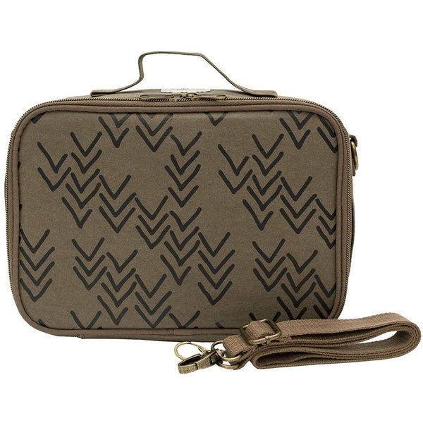 So Young Insulated Olive Paper Bento Lunch Box | Chevron for Kids