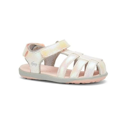 Paley Water-Friendly Toddler Sandal | White Shimmer
