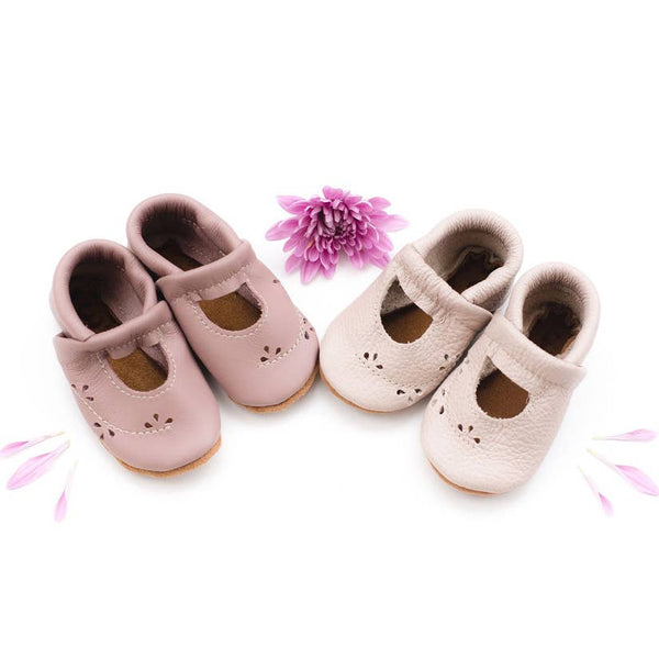 "Soft Leather Baby and Toddler ""Ivy"" Jane Moccasin 