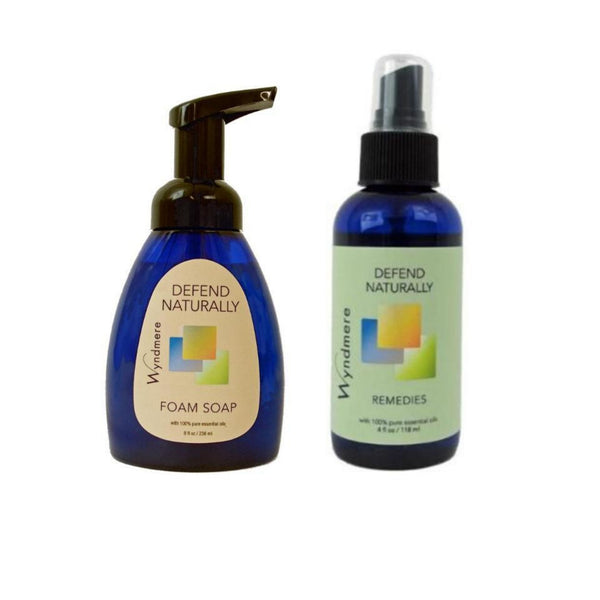 Defend Naturally: Sanitizing  Foaming Soap and Spray Set