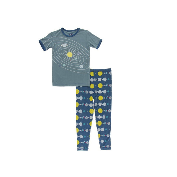 Kickee Pants Short Sleeve Pajama Set | Twilight Planets
