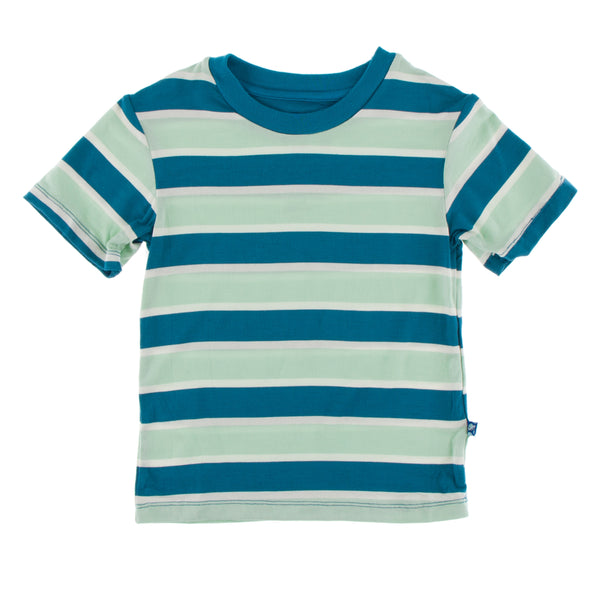 KicKee Pants Bamboo Easy Fit Crew Neck  Tee | Seaside Stripe