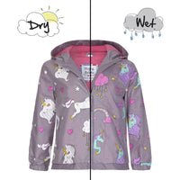 Magical Color Changing Toddler Packaway Raincoat