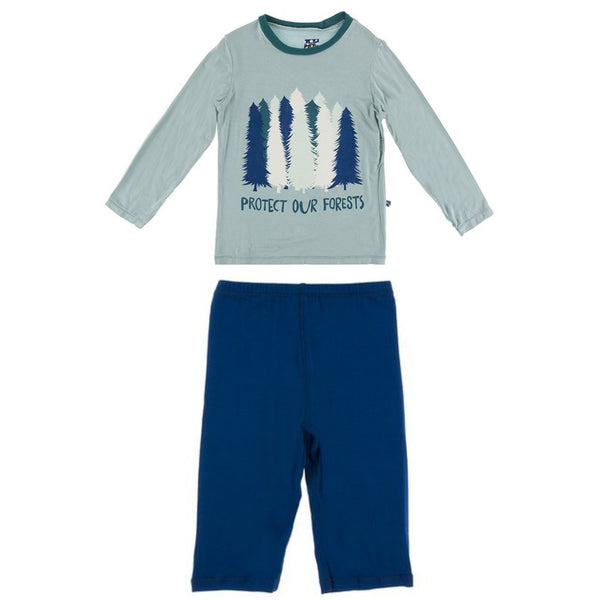 Long Sleeve Crew Neck Tee + Pants Set | Protect Our Forests