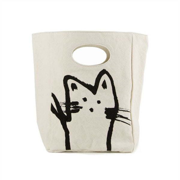Fluf Washable Organic Cotton Classic Lunch Sack | Cat
