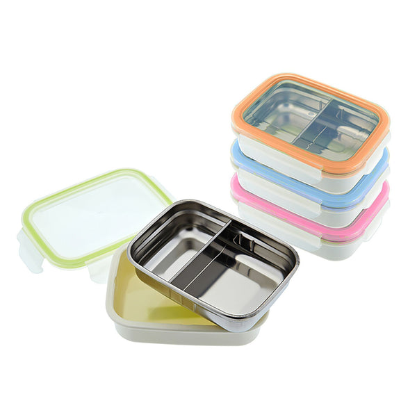 innobaby Keepin' Fresh 11oz Stainless Leak Proof Bento Style Snack Box with a Removable Divider
