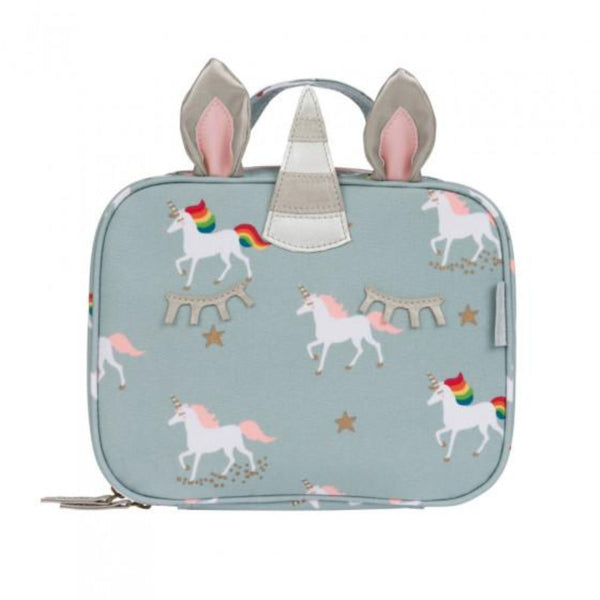 Sophie Allport Oilcloth Waterproof Stain Resistant Insulated Kids Lunch Bag | Unicorn