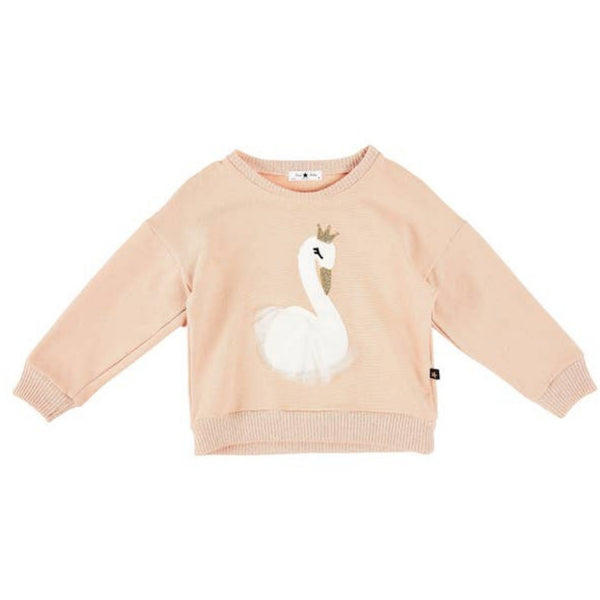Petite Hailey Glitter Swan Sweater | Pink