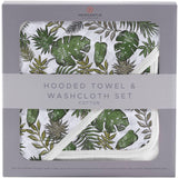 Deluxe Cotton and Muslin Hooded Towel Set | Jurassic Forest