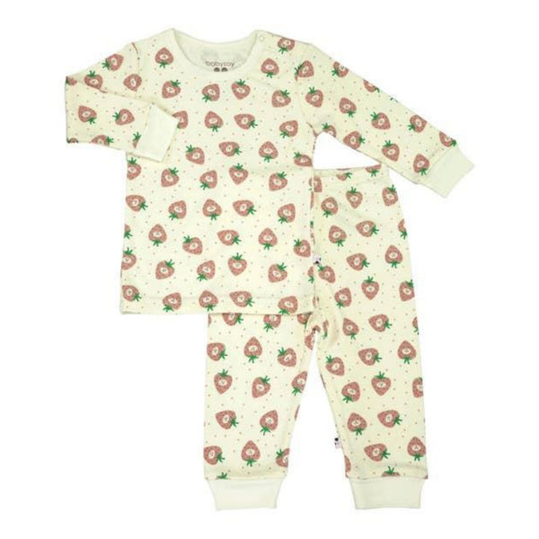 Babysoy Long Sleeve Lounge Set | Strawberry