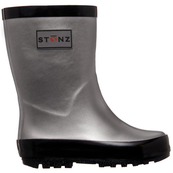 Stonz Natural Rubber Rain Boots | Metallic Grey