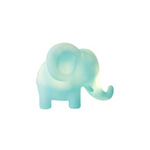 Light blue soft touch non-toxic PVC night light in a cute elephant shape | SaplingShop