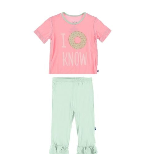Kickee Pants Graphic Tee and Pants Set | Pink I Donut Know