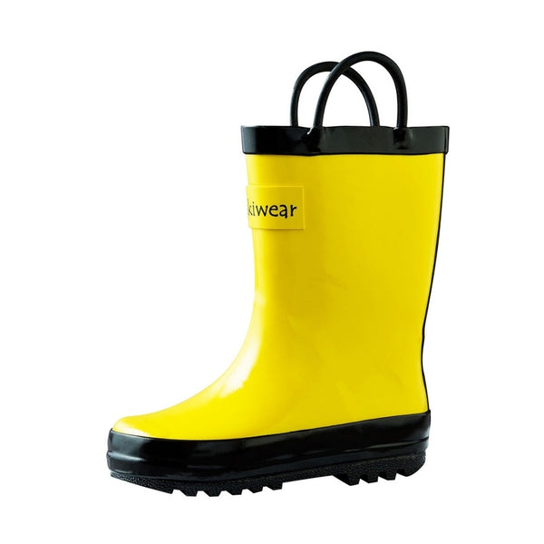 Loop Handle Rainboots | Yellow + Black