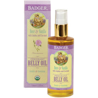 Badger Pregnant Belly Oil Rose and Lavender