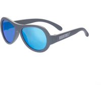 Babiators Babies and Kids Premium Blue Steel Sunglasses- gray with mirrored lenses- ages 0-5 years