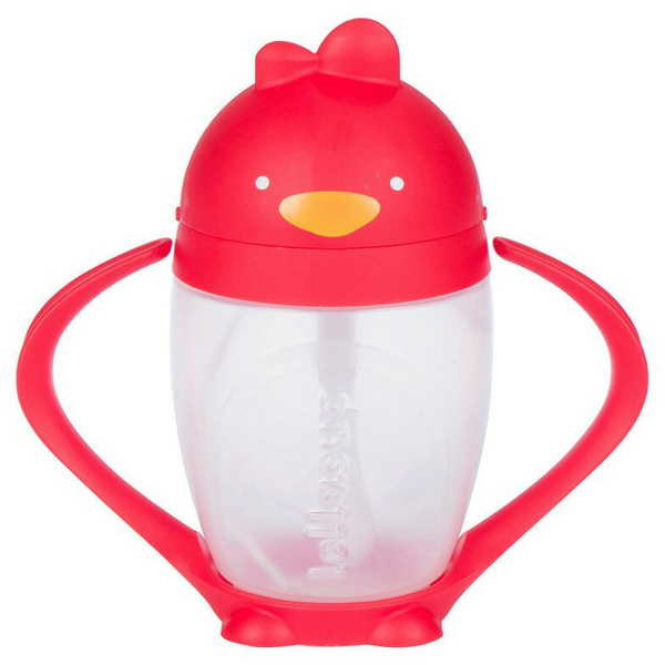 Lollacup Straw Sippy Cup | Bold Red