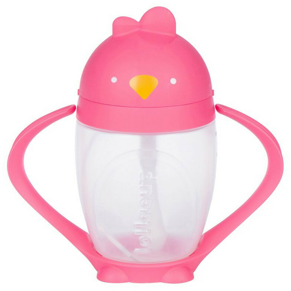 Lollacup Straw Sippy Cup Posh Pink