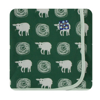 Kickee Pants Swaddling Blanket: Topiary Tuscan Sheep