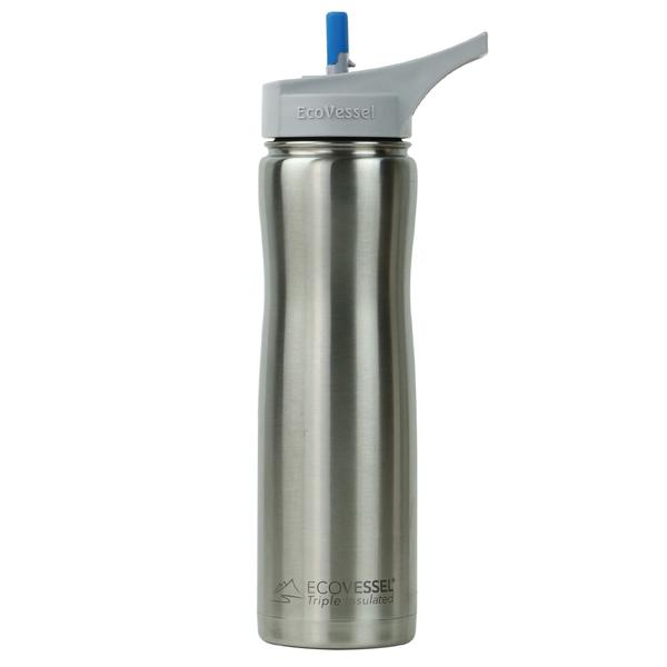 Ecovessel Summit TriMax Insulated Stainless Steel Water Bottle With Straw Top