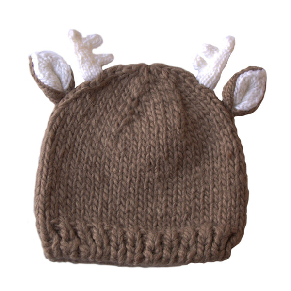 Hand-Knit Animal Hats | F ox + Deer with Antlers