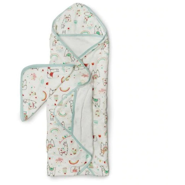 Deluxe Bamboo and Terrycloth Hooded Towel Set | Llama
