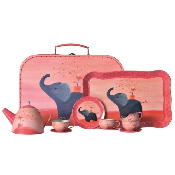Tin Tea Set | Elephant