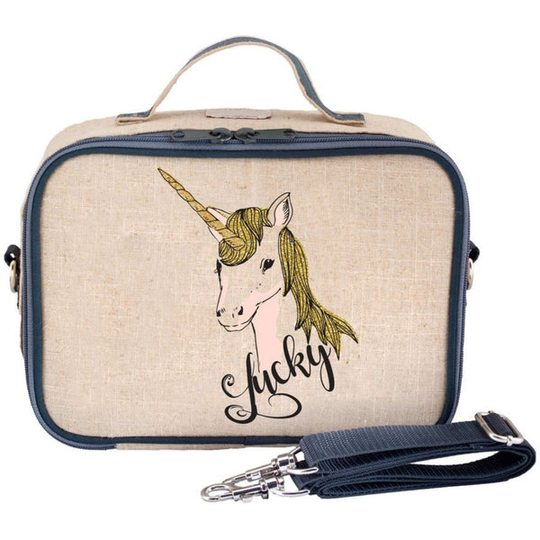 So Young Insulated Linen Lunch Box | Lucky Unicorn