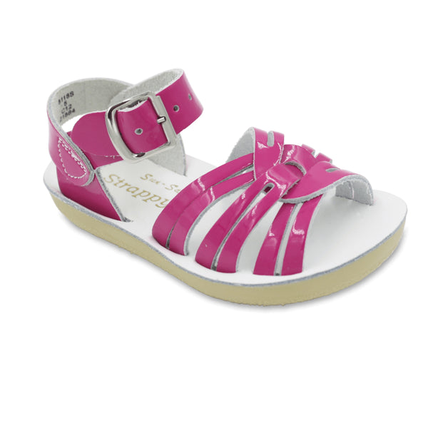 Saltwater Water-Friendly Strappy Toddler Sandals | Fuschia