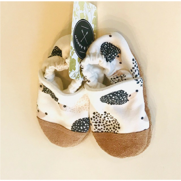 Snow and Arrow Hedgehog Cotton Slippers