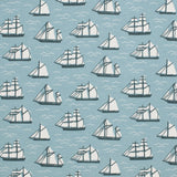 Winter Water Factory Oslo Dress | Vintage Sailboats | Blue & Teal