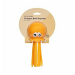 Neon orange octopus with two big eyes and a sponge head for bath and pool play | SaplingShop