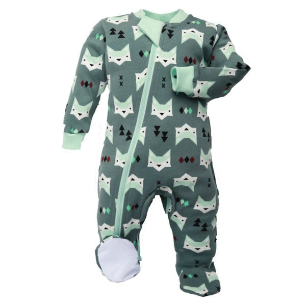 Organic Cotton Footed Babysuit | Quiet Fox
