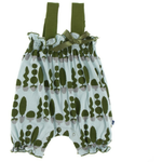 Kickee Pants Gathered Romper with Bow: Spring Sky Villa Garden