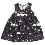 Winter Water Factory Oslo Dress | Outer Space in Charcoal